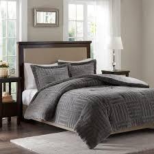 piece grey king cal king comforter set