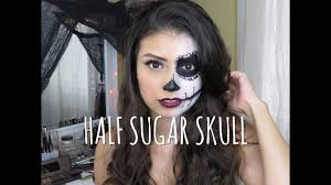 easy half sugar skull makeup tutorial