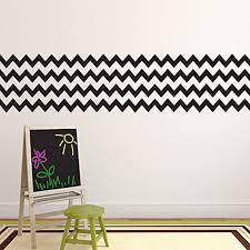 Amazon Com Pack Of 4 Chevron Pattern Stripes Wall Art Decal 8 X 36 Bedroom Living Room Wall Decoration Peel Off Vinyl Sticker Apartment Decor Trendy Wall Art Home Kitchen