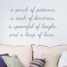 Sale Pinch Of Patience Wall Sticker Quote Etsy