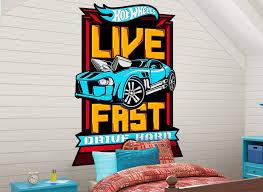 Hot Wheels Cars Headboard Or Wall Decal 3
