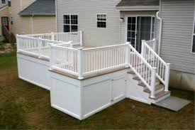 Under Deck Storage Use Our Vinyl Fencing And Railing To Compelte A Project Like This One Greatrailing Com Offers All Th Under Deck Storage Deck Storage Deck