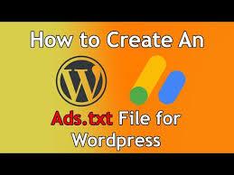 ads txt file for wordpress s