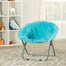 Isabelle Max Brimmer Plush Faux Fur Saucer Kids Chair Reviews Wayfair