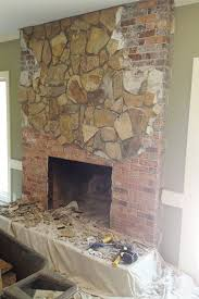concrete industrial fireplace remodel