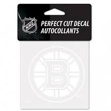 Boston Bruins White 4 X4 Car Decal New Nhl Auto Sticker Emblem Logo Ebay