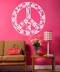 Vinyl Wall Decal Sticker Flower Peace Sign 1204 Stickerbrand