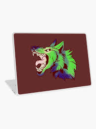 Acid Wolf Laptop Skin By Mcwolfychan Redbubble