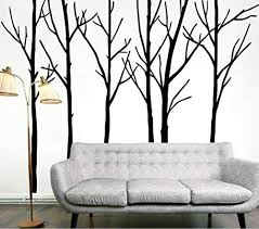 Amazon Com Large Tree Wall Decal Sticker Semi Gloss Black Tree Branches Removable No Paint Needed Wall Stencil The Easy Way Big Black Stickers Living Room Bedroom Home Decoration Background Pvc Plane Plant Home Kitchen