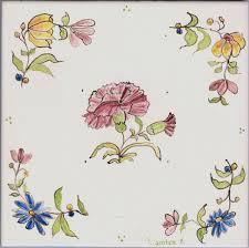 אריחים מצוירים פרחים - אריחים מצוירים מיוליקה