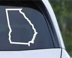 Georgia State Outline Ga Usa America Die Cut Vinyl Decal Sticker Decals City
