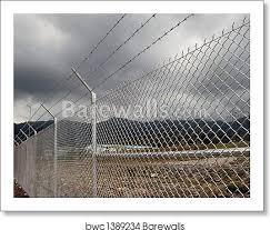 Cyclone Wire Fence Art Print Barewalls Posters Prints Bwc1389234