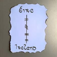 ogham script ireland mary s haiga