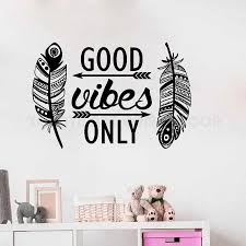 Wall Decal Good Vibes Only Quotes Stickers Wall Window Art Decor Sticker Kids Nursery Bedroom Yoga Buddha Wall Decal Y173 Wall Stickers Aliexpress