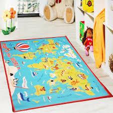 Kids Rug World Map Motive Play Rug Children S Room Interactive Educative Carpet Ebay