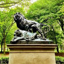 bronze large outdoor lion statues for