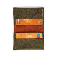 leather card holder business card