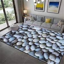 living room beige light blue pebbles