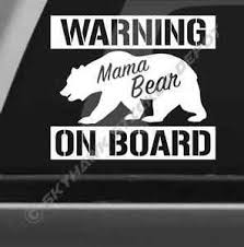 Funny Mama Bear On Board Bumper Sticker Decal Warning Decal Car Baby On Board Ebay