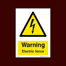 Warning Electric Fence Plastic Sign Weh53 Electric Hazard Voltage Danger Of Death Cables Wires Electric Fence Amazon Co Uk Kitchen Home