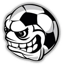 Angry Soccer Ball Face Mascot Car Bumper Sticker Decal 5 X 5 Ebay