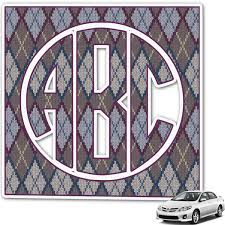 Knit Argyle Monogram Car Decal Personalized Youcustomizeit