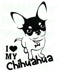 Decal I Love My Chihuahua Decal Sticker Chihuahua Tea Cup Etsy Chihuahua Chihuahua Love Sticker Download