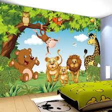Cartoon Animation Child Room Wall Mural For Kids Room Boy Girl Bedroom Wallpapers 3d Mural Wallpaper Custom Any Size Wallpaper 3d Mural 3d Muralwallpaper Custom Aliexpress