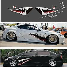 2x Full Size Shark Mouth Tooth Teeth Graphics Vinyl Car Sticker Decal Decor For Sale Online Ebay