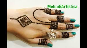 modern finger mehndi design 2018