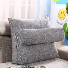 Solid Color Cushions Kids Room Cotton Triangular Cushion For Sofa Cushions For Bed Rest Pillow Back Support Large Size Bb50 Cushion Aliexpress