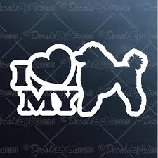 Great Deals On I Love My Poodle Car Truck Decals