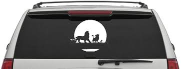 Amazon Com Disney Car Decal Simba Car Decal Lion King Car Decal Disney Wall Sticker Disney Decor Kids Decal Kids Room Decor Name Decal Home Kitchen