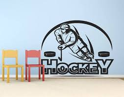 Hockey Player Ice Hockey Wall Decal Ice Hockey Wall Sticker Hockey Icehockey Hockeygame Nhl Hockeymom Walldecal W Hockey Decals Wall Decals Hockey Mom