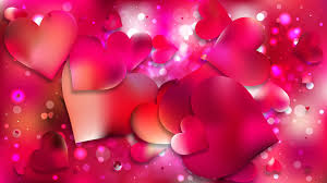 pink love background vector ilration