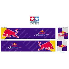 Tamiya 56319 56302 Redbull Energy Drink Racing Trailer Reefer Semi Box Huge Side Decals Stickers Set