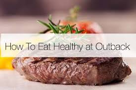 how to eat at outback and lose weight