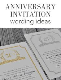 wedding anniversary invitation wording