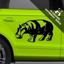 A50 Off Hippo Car Decal Hippopotamus Behemoth Window Or Etsy