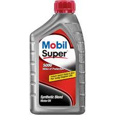 mobil super synthetic blend motor oil