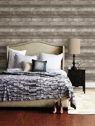 Dustin Gray Wood Planks Wallpaper Reclaimed Rustic Distressed | Etsy
