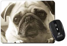 cute pug dog puter mouse mat