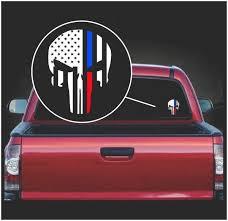 Punisher Skull Flag Police And Fireman Thin Line Window Decal Sticker A2 Custom Sticker Shop
