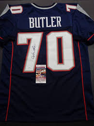 Adam Butler Autographed Custom New England Patriots Style Blue Jersey JSA  at Amazon's Sports Collectibles Store