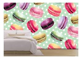Wall26 Vector Watercolor Macaron Seamless Pattern French Dessert With Different Tastes And Bright Colors Removable Wall Mural Self Adhesive Large Wallpaper 100x144 Inches Walmart Com Walmart Com