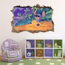 Lilo Stitch Smashed Wall Decal Graphic Wall Sticker Decor Art Disney H380