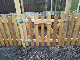 Wooden Garden Gate Dog Gate Cottage Garden Gate Picket Fence Bespoke Gate Ebay