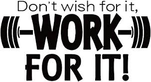 Amazon Com Don T Wish For It Work For It Vinyl Wall Decal Inspirational Quote Motivational Saying Art Letters Room Decor Home Kitchen
