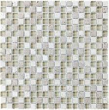 spa glass and stone square mosaic tiles