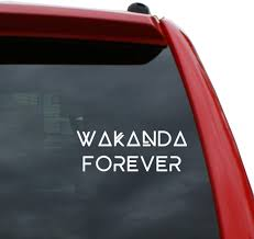 Amazon Com Black Heart Decals More Wakanda Forever Vinyl Decal Sticker Color White 7 X 2 6 Automotive